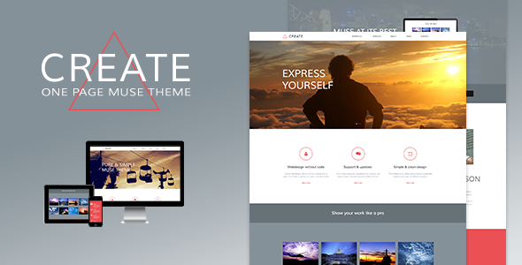 Create - One Page Muse Theme - Creative Muse Templates
