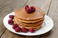 Ready to eat pancakes with raspberry - PhotoDune Item for Sale