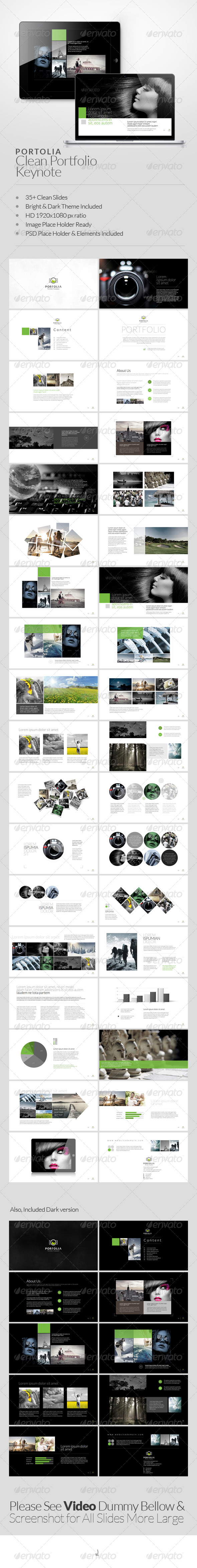 GraphicRiver Portolia Multipurpose Clean Portfolio Keynote 6452302