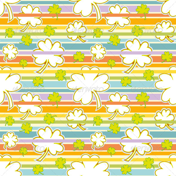 GraphicRiver Clover and Rainbow Seamless Pattern 6501743
