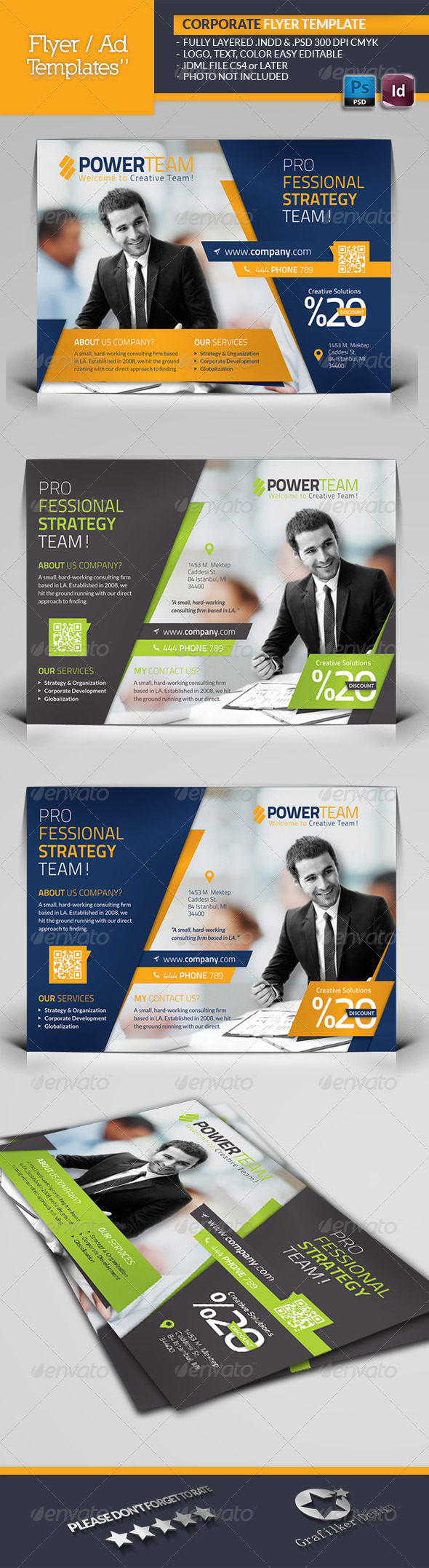 GraphicRiver Corporate Flyer Template 6501779