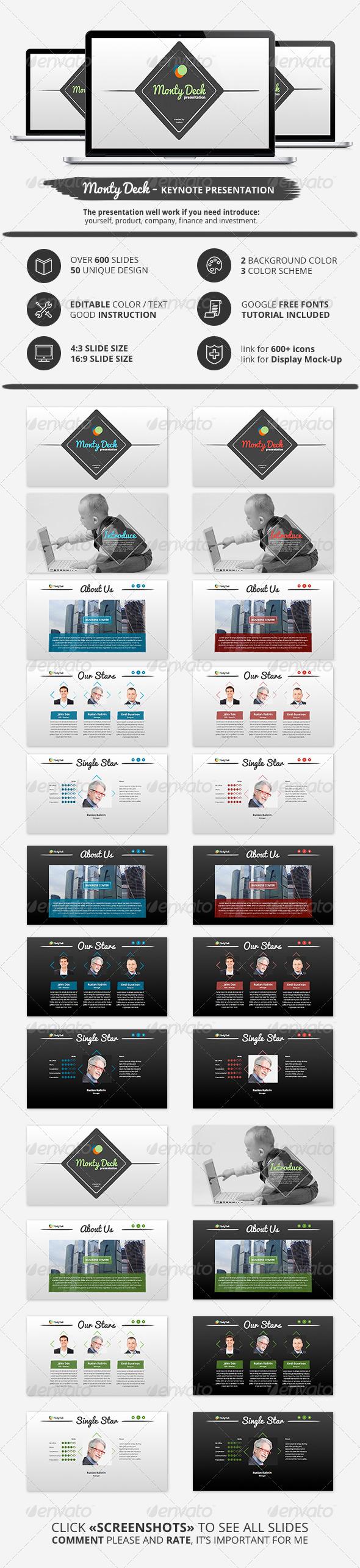 GraphicRiver Monty Deck Keynote Presentation 6478330