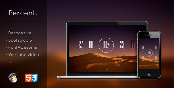 ThemeForest Percent Responsive Coming Soon Template 6480506