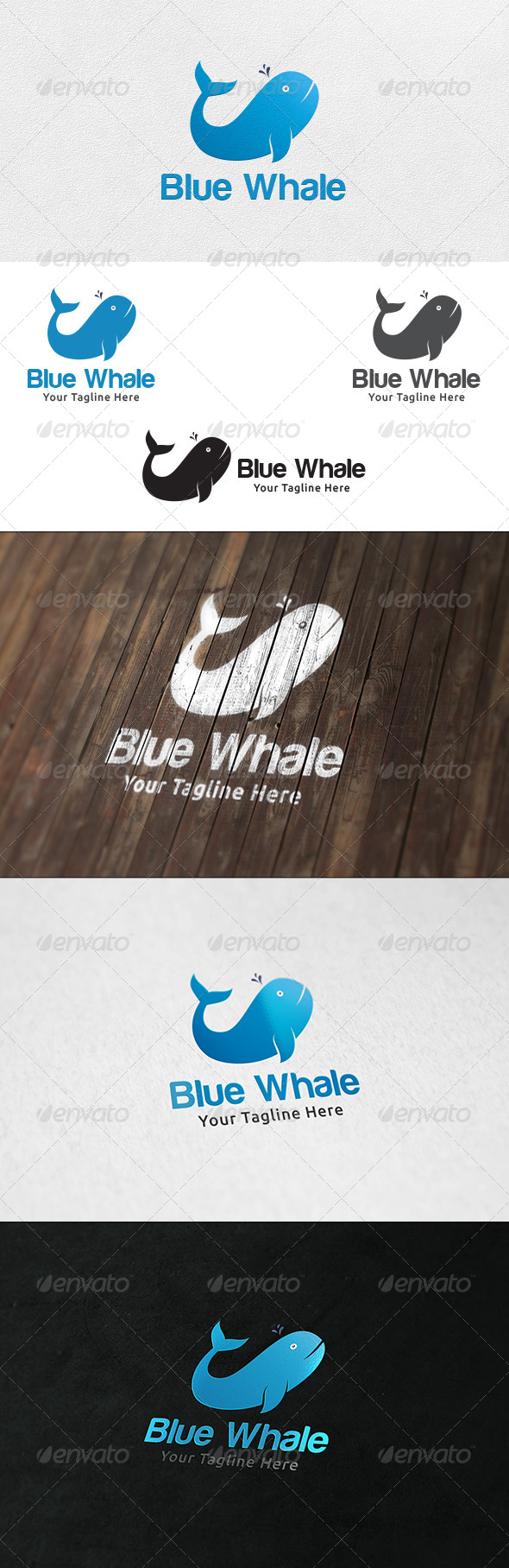 GraphicRiver Blue Whale Logo Template 6503107