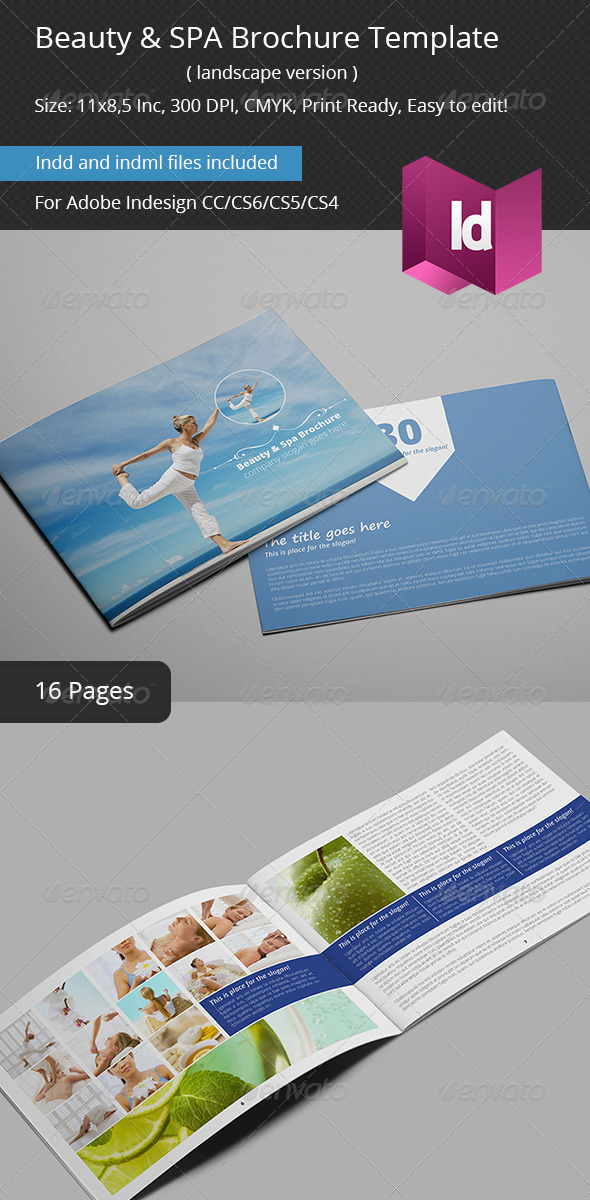Beauty & SPA Brochure Template - Catalogs Brochures
