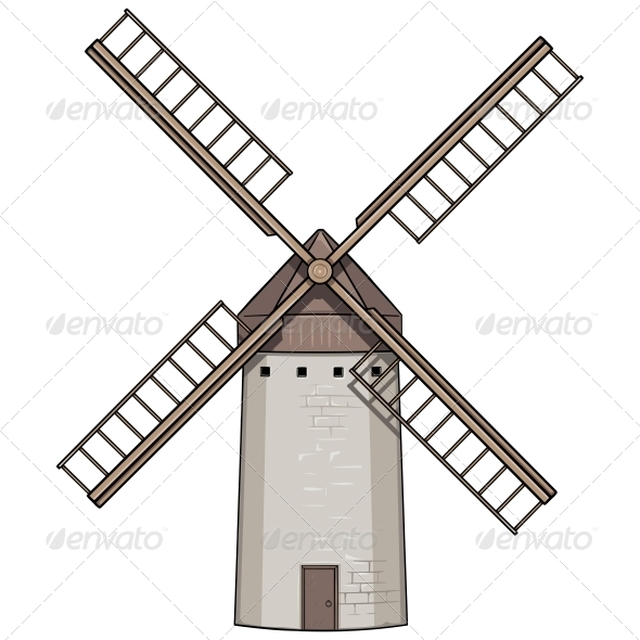 GraphicRiver Old Windmill 6504203