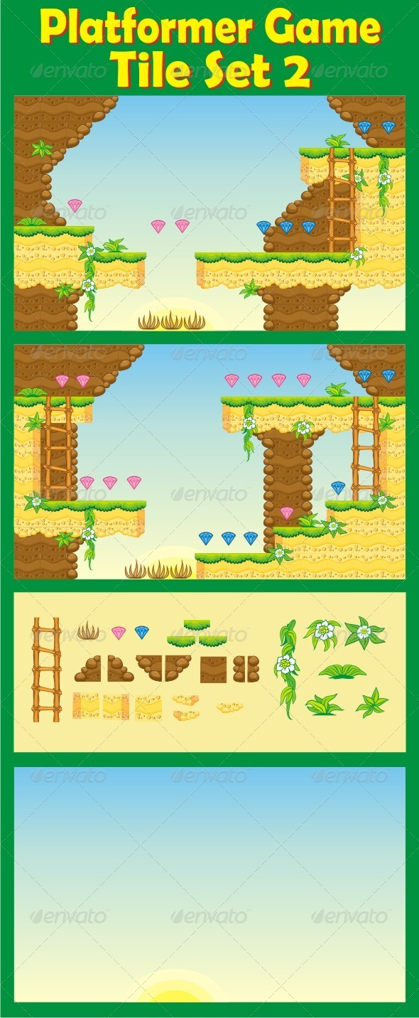 GraphicRiver Platformer Game Tile Set 2 6503590