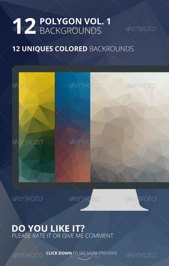 GraphicRiver 12 Polygon Backgrounds Vol 1 6484705