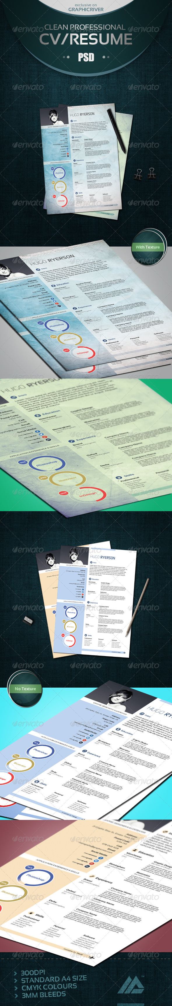 GraphicRiver Modern CV Resume 6505215