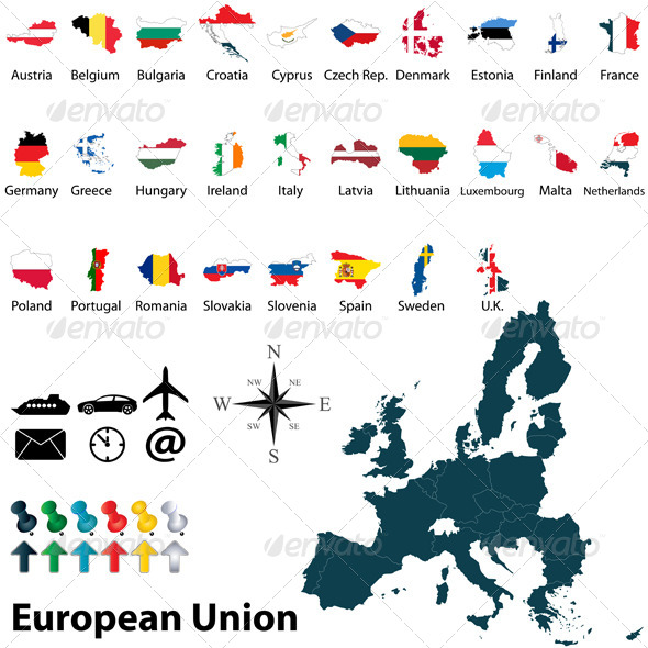 GraphicRiver Maps of European Union 6505858