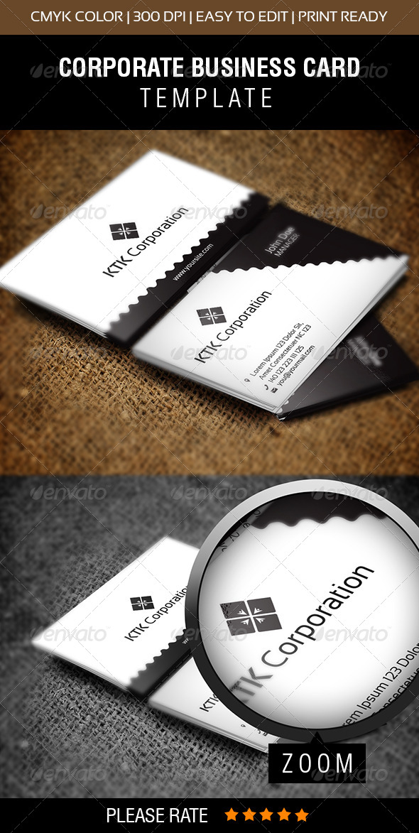 GraphicRiver KTK Corporation Business Card 6506071