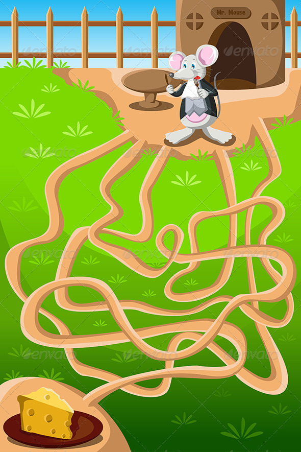 GraphicRiver Mouse and Cheese Maze 6506085