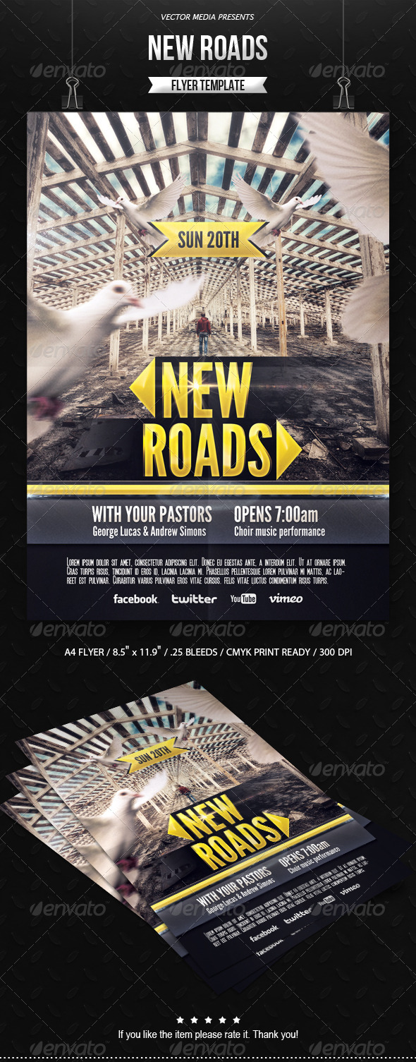 GraphicRiver New Roads Flyer 6506730