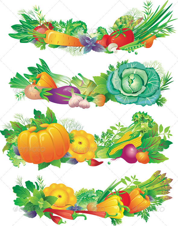 GraphicRiver Set of Vegetables 6507109