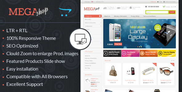 ThemeForest Mega Shop Responsive OpenCart Theme 6507132