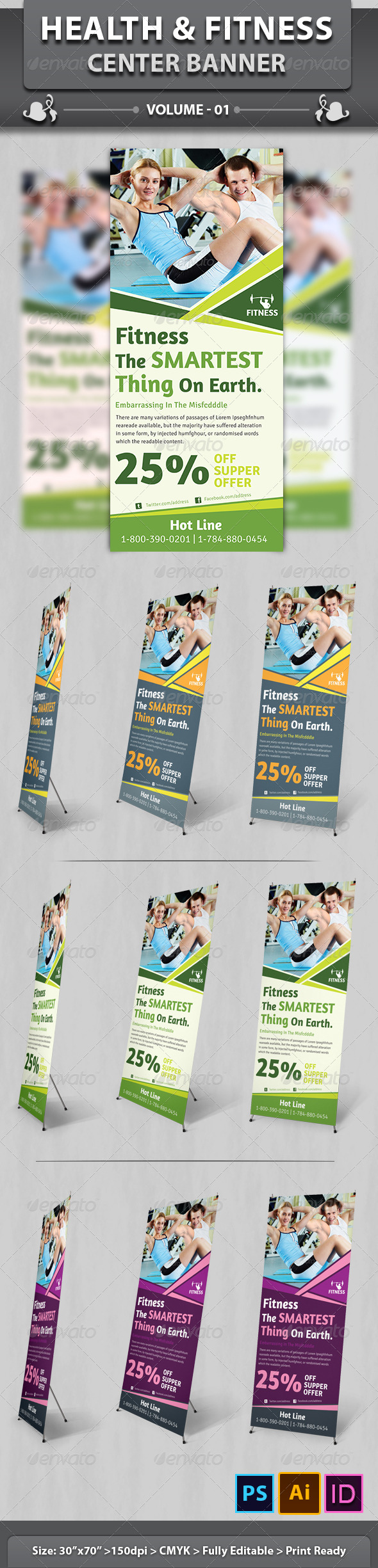 GraphicRiver Health & Fitness Center Banner Volume 1 6507522