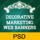 Corporate Decorative Marketing Web Banners - GraphicRiver Item for Sale