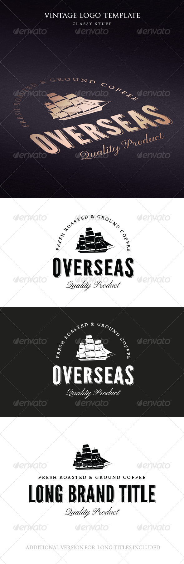 GraphicRiver Vintage Overseas Logo Template 6504714