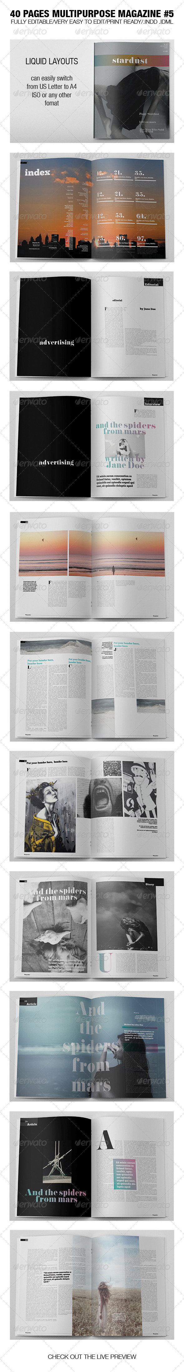 GraphicRiver 40 Pages Multipurpose Magazine 5 6507694