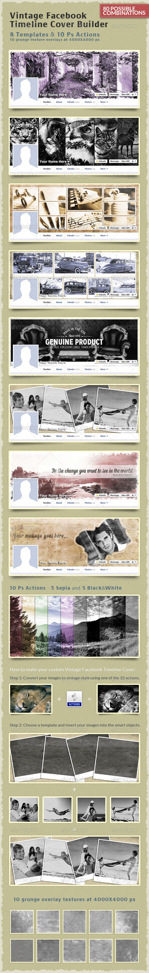 GraphicRiver Vintage Facebook Timeline Cover Builder 6482845