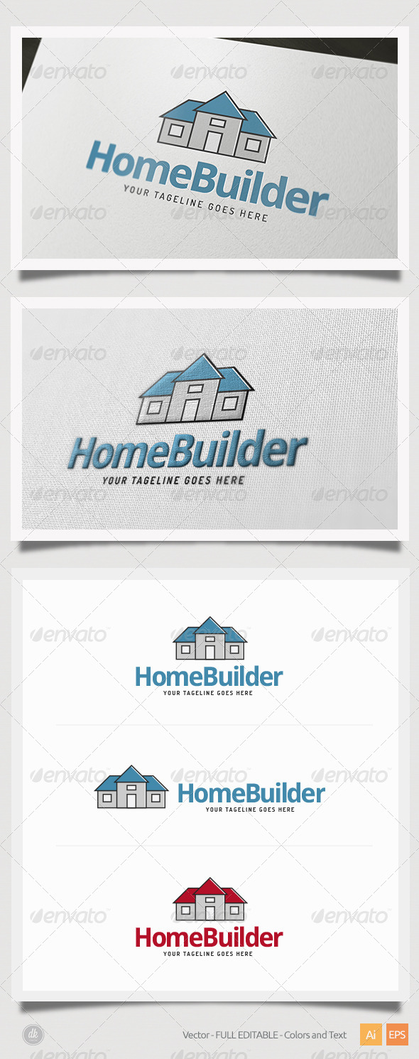 GraphicRiver Home Builder Logo 6507877