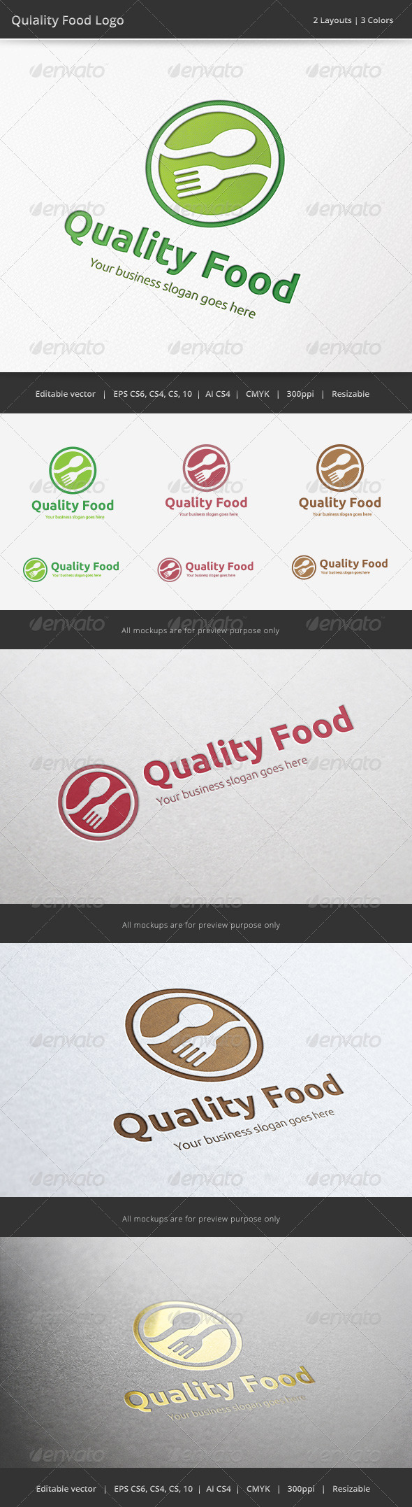 GraphicRiver Quality Food Logo 6508305