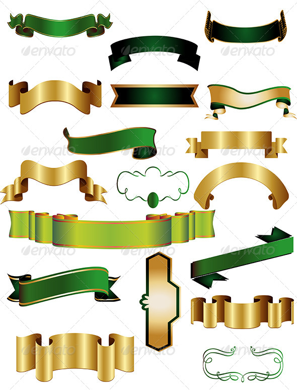 GraphicRiver Ribbon Banner Vector Set 6508664