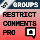 Groups Restrict Comments Pro - CodeCanyon Item for Sale