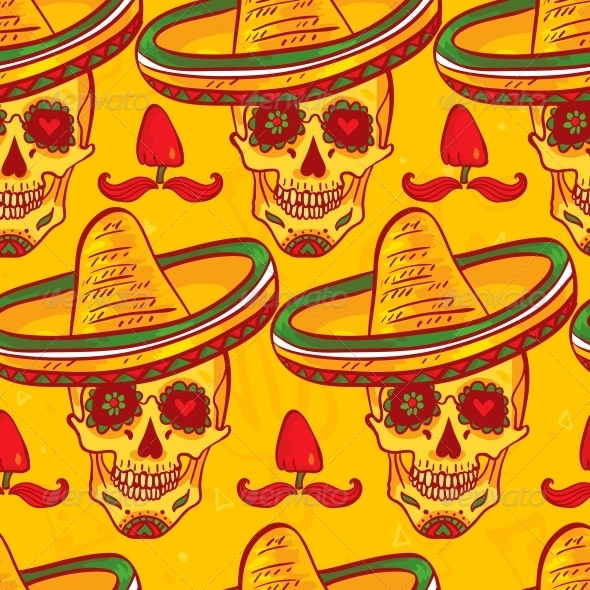 GraphicRiver Cinco De Mayo Seamless Pattern 6508856