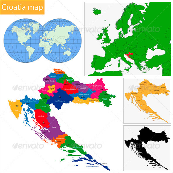 GraphicRiver Croatia Map 6509047