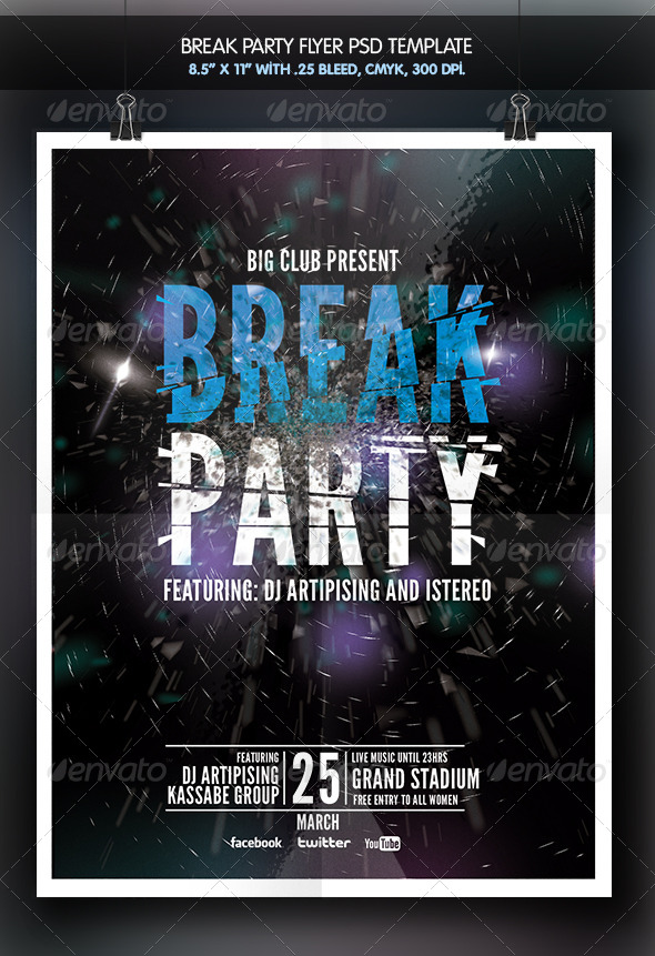 GraphicRiver Break Party Flyer 6509209