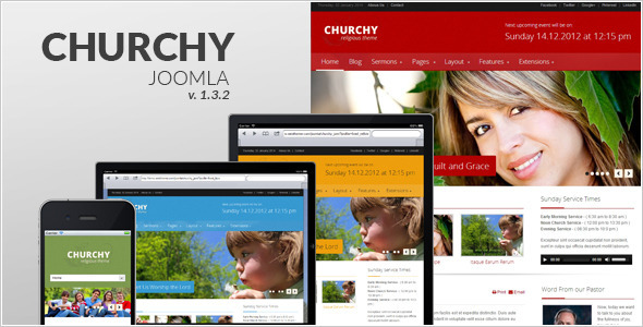 Churchy - Joomla Responsive Template - Churches Nonprofit