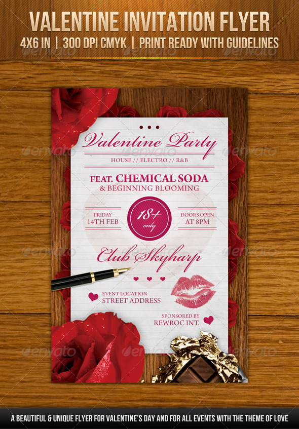 GraphicRiver Valentine Invitation Flyer 6509502