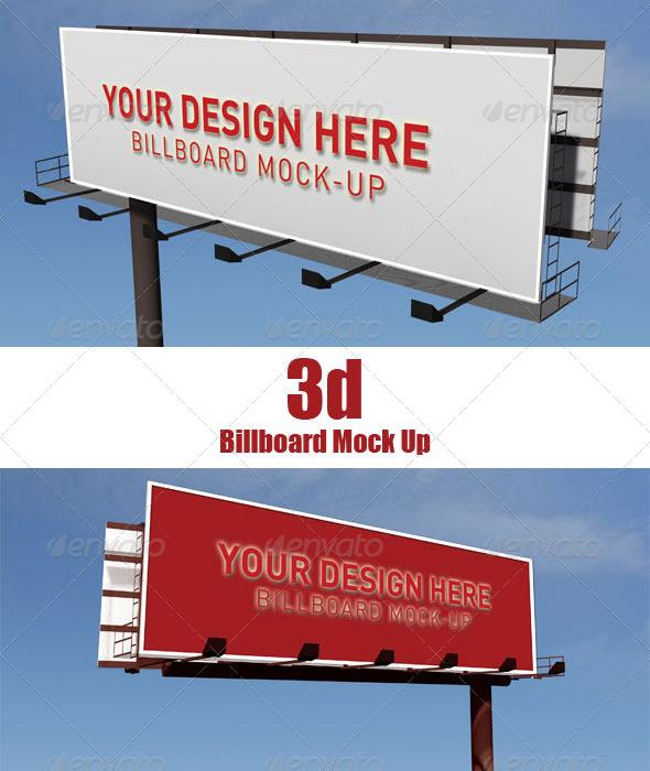 GraphicRiver 3D Billboard Mock Up 6509508