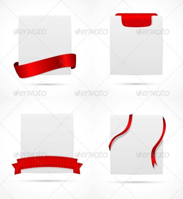 GraphicRiver White Card with Ribbon Vector Illustration 6509763