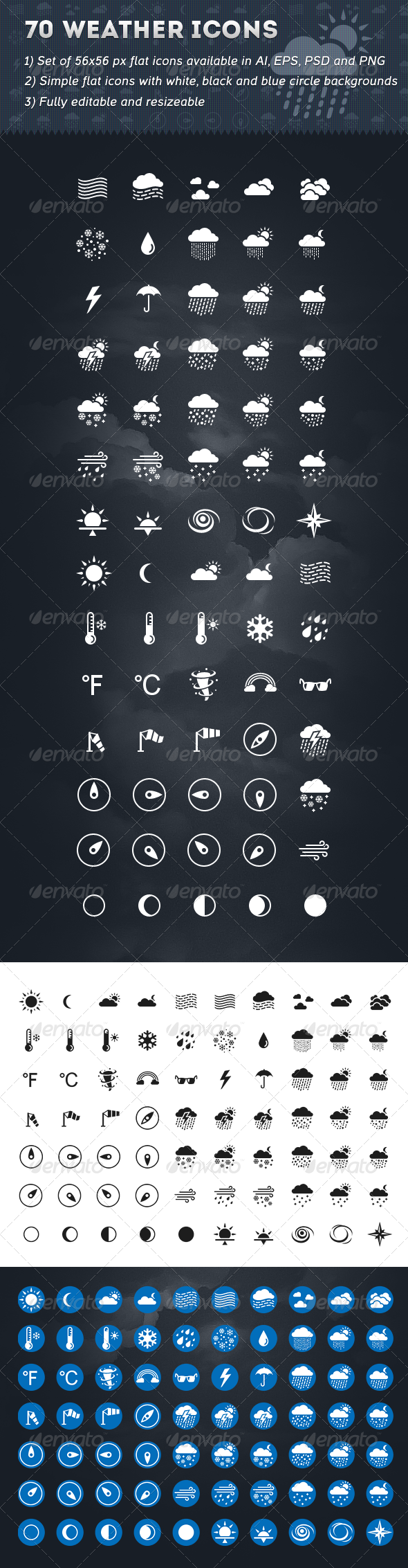 GraphicRiver 70 Weather Icons 6509981