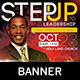 Step Up to Leadership: Church Banner Template - GraphicRiver Item for Sale