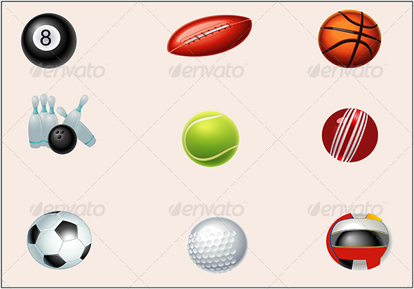 GraphicRiver Sports Icon Set 6510273