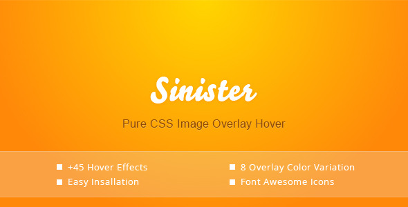 CodeCanyon Sinister Pure CSS Image Hover Effects 6510972