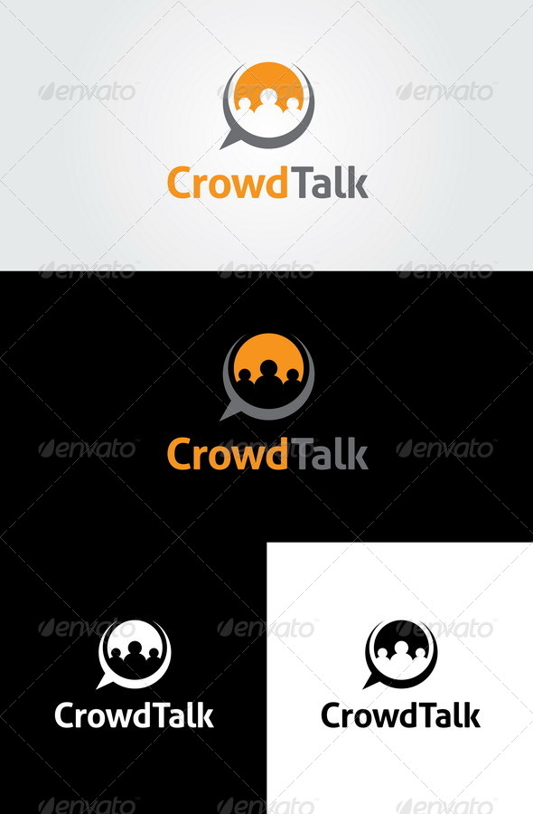 GraphicRiver Crowd Talk Logo Template 6511047