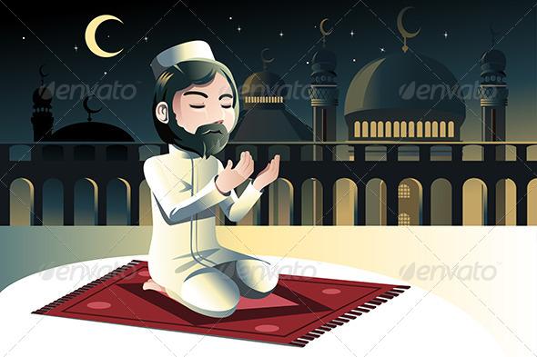 GraphicRiver Muslim Praying 6511244