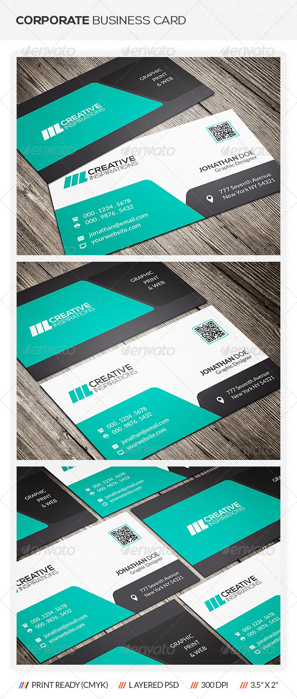 GraphicRiver Modern Corporate Business Card 6511328
