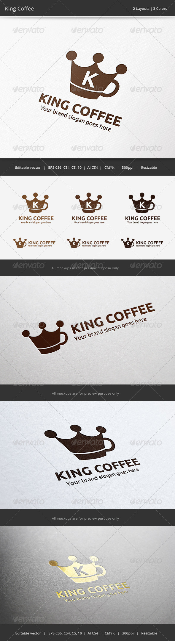 GraphicRiver King Coffee Logo 6512429