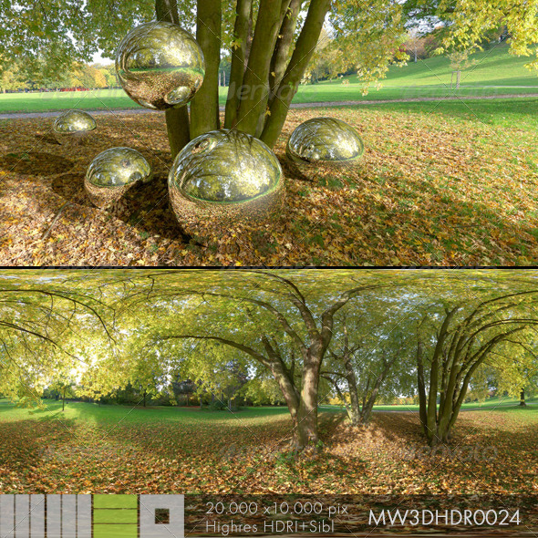 3DOcean MW3DHDR0024 Autumn under the Trees 6512437