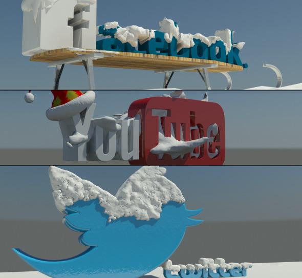 3DOcean Social Media winter Logos 6512447