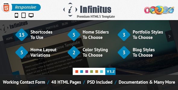 Infinitus : Responsive HTML5 Business Template - This is the preview for the file.