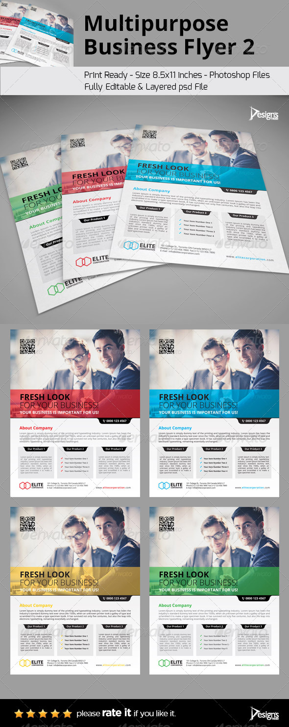GraphicRiver Multipurpose Business Flyer 2 6512541