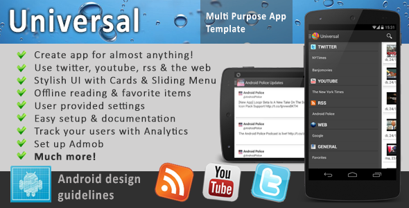CodeCanyon Universal Full Multi-Purpose Android App 6512720