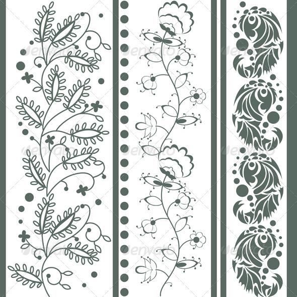 GraphicRiver Vintage Floral Ornaments 6512801