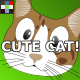 Cartoon Cat Meow Emotions